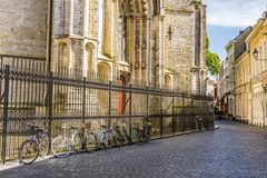 Vista parziale di grande chiesa della città di Breda I Paesi Bassi olandesi fotografia stock libera da diritti
