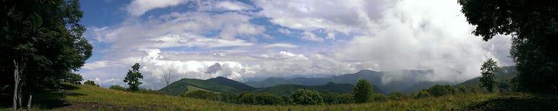 Vista pazza delle montagne Fotografie Stock Libere da Diritti