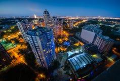 Vista Pechersk Kiev di notte Fotografia Stock