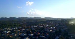 Vista pelo zangão aéreo Geórgia, Kakheti Cidade de Gurjaani vídeos de arquivo