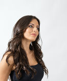 Vista pensativa da mulher bonita delicada feminino afastado Fotografia de Stock Royalty Free