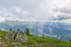 Vista per alzare Midzhur verticalmente dalla Bulgaria Immagine Stock Libera da Diritti