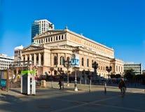 Vista per ricostruire teatro dell'opera Fotografie Stock Libere da Diritti