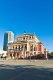 Vista per ricostruire Teatro dell'Opera a Francoforte Fotografia Stock