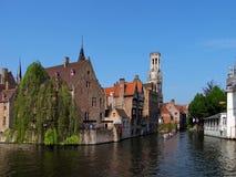 Vista piacevole da Bruges Immagini Stock Libere da Diritti