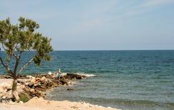 Vista piacevole da Rethymno, Creta, Grecia immagini stock