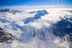 Vista piacevole del picco e del ghiacciaio di Grossglockner da KaiserFranz Josef Glacier National Park, in Nuova Zelanda nell'aus Immagine Stock