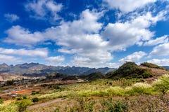 Vista piacevole del plateau di Moc Chau, Vietnam Fotografia Stock