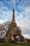 Vista piacevole della torre Eiffel Immagine Stock Libera da Diritti