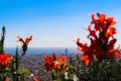 Vista piacevole di Barcellona Fotografie Stock Libere da Diritti