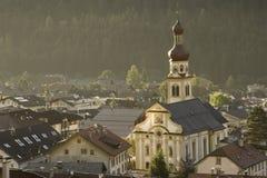 Vista piacevole di Fulpmes, Austria Fotografie Stock Libere da Diritti