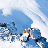 Vista piacevole giù la scogliera Immagine Stock