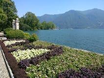 Vista piacevole a Lugano Fotografie Stock