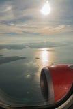 Vista piacevole sull'aereo Fotografia Stock