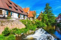 Vista pintoresca de Kaysersberg, Alsacia, Francia Imágenes de archivo libres de regalías