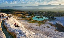 Vista pintoresca de Pamukkale Foto de archivo libre de regalías