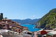 Vista pintoresca de Vernazza Foto de archivo libre de regalías
