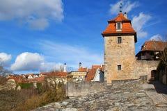 Vista pitoresca de Rothenburg imagem de stock royalty free