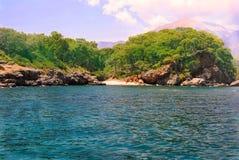 Vista pittoresca del mare immagini stock
