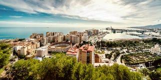 Vista pittoresca di Malaga immagini stock