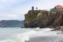 Vista pittoresca di Vernazza Fotografia Stock