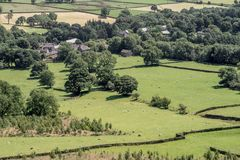 Vista pittoresca sulle colline vicino a Edale, parco nazionale di punta del distretto, Derbyshire, Inghilterra, Regno Unito Immagini Stock