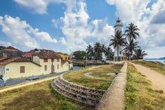 Vista pittorica di houe leggero - fortificazione di Galle (Sri Lanka) Fotografie Stock