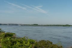 Vista poderoso del río Misisipi en la primavera, Memphis imágenes de archivo libres de regalías