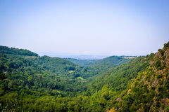 Vista point of frensh forest during hike. Vista in the south of France Royalty Free Stock Images