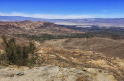 Vista point overlooking Cahuilla Reservation, California. The Cahuilla Reservation is located in Riverside County near the town of Anza. It is 18,884 acres &# stock photography
