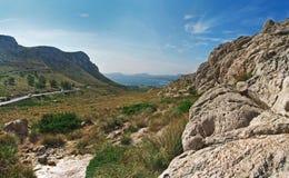 Vista a Port de Pollenca, Majorca. fotografia stock libera da diritti