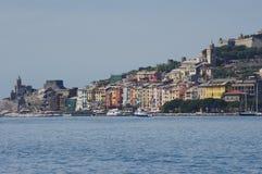 Vista a Portovenere Imágenes de archivo libres de regalías