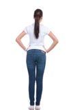 Vista posterior casual de la mujer Foto de archivo