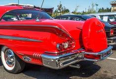 Vista posterior 1957 de Chevy Impala Foto de archivo