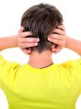 Vista posterior de un niño Fotografía de archivo