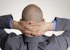 Vista posterior de una cabeza calva foto de archivo libre de regalías