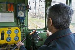 Vista posterior del ingeniero locomotor Imagen de archivo