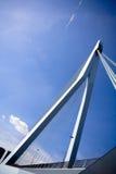 Vista posterior del puente de Erasmus Fotografía de archivo