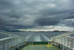 Vista posterior del transbordador Imagen de archivo libre de regalías