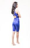 Vista posterior, un traje de baño del nadador de la parte posterior de la mujer joven Fotografía de archivo