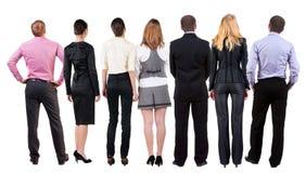 Vista posteriore degli sguardi del gruppo di affari Fotografia Stock