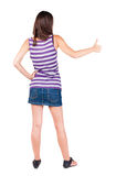 Vista posteriore dei pollici della donna su Fotografia Stock Libera da Diritti