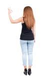 Vista posteriore dei pollici della donna su Immagini Stock Libere da Diritti