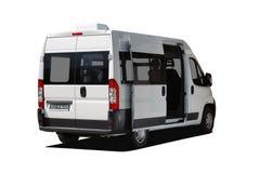 Vista posteriore del minibus Immagine Stock