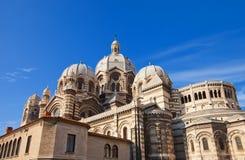 Vista posteriore della cattedrale di Marsiglia (XIX C.) Immagini Stock Libere da Diritti