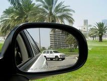 vista posteriore dello specchio fotografie stock libere da diritti
