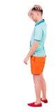 Vista posteriore di giovane sguardo di shorts del manin Fotografie Stock Libere da Diritti