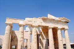 Vista posteriore di Propylaea fotografie stock