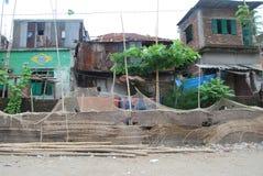 Vista a povera Dacca domestica Bangladesh fotografia stock