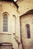 Vista próxima da basílica de St George em Praga Fotografia de Stock